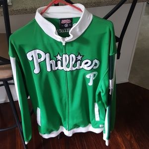 Phillies zipper up jacket Size Large